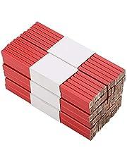 Lápices de carpintería, juego de lápices de carpintero para carpintería octogonal, 17,5 x 1,3 x 0,7 cm, 72 unidades, rojo