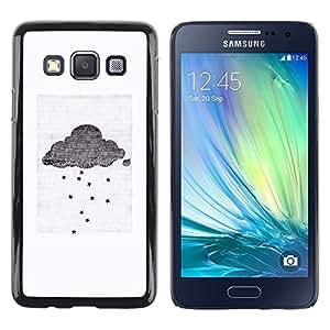 TopCaseStore / la caja del caucho duro de la cubierta de protección de la piel - Cloud Gray White Small Sad Emo - Samsung Galaxy A3 SM-A300