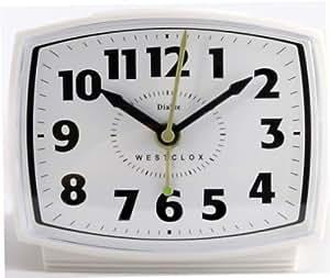 Amazon.com: ALARM CLOCK ELECTRIC WHT by WESTCLOX MfrPartNo ...