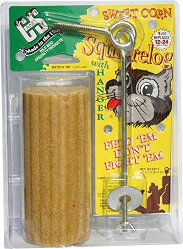 Corn Log - Squirrel Log And Feeder