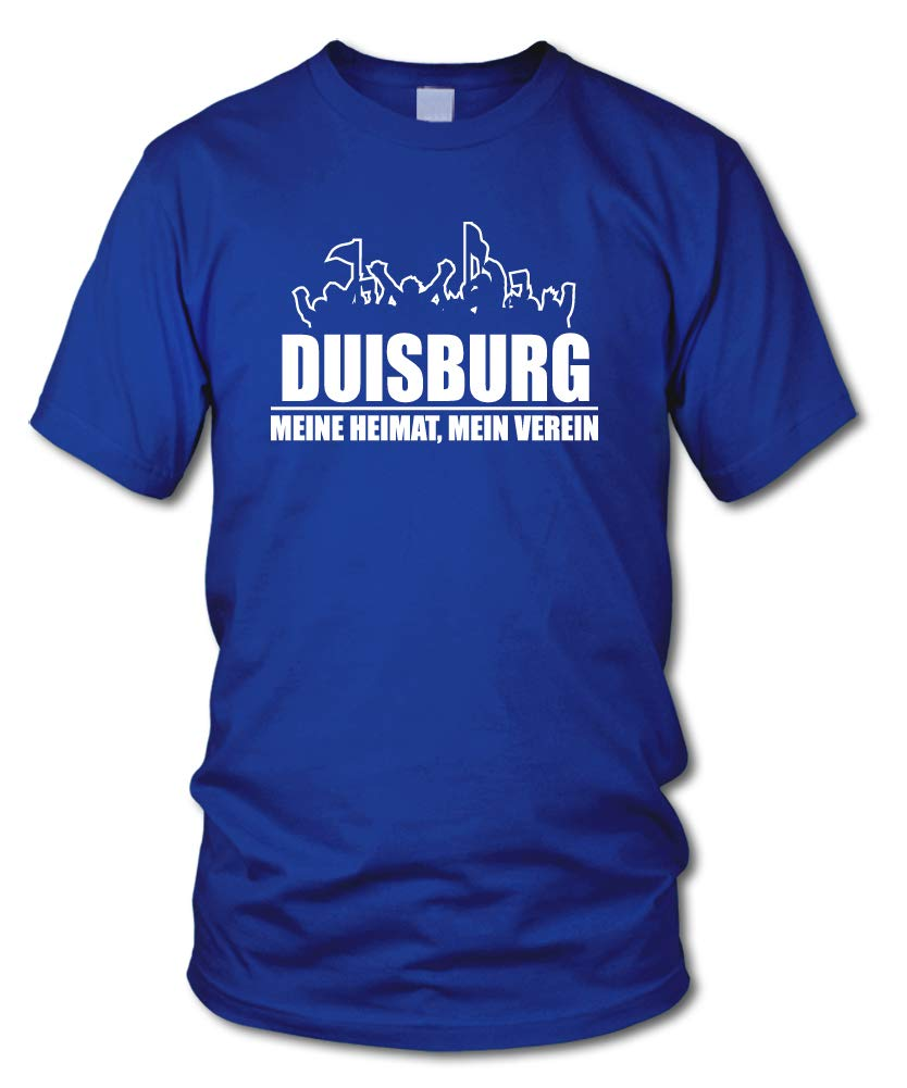 Duisburg Fanblock shirtloge Gr/ö/ße S Mein Verein Fussball Fan T-Shirt 3XL Meine Heimat