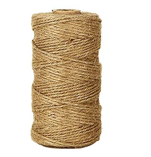 A10SHOP Natural Jute Twine 328 Feet Arts and Crafts Gift Jute Rope Christmas Twine Durable Packing String for DIY Crafts Ltd. Festive Decoration and Gardening Applications A10 Design Pvt