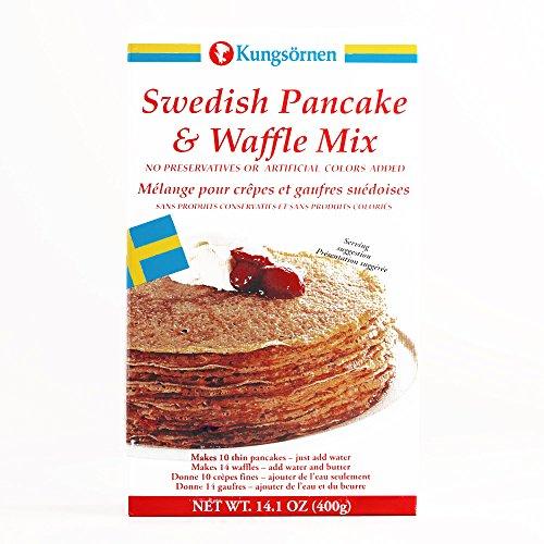 Kungsornen Swedish Pancake & Waffle Mix 14.1 oz each (1 Item Per Order, not per case)