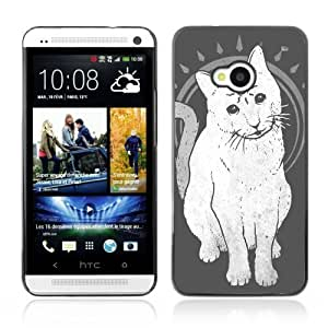 Designer Depo Hard Protection Case for HTC One M7 / Mystical Three Eye Cat
