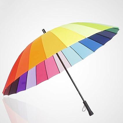 Kaxima De Gran tamaño, Recto, Arco Iris Paraguas, lápiz, Paraguas Doble,
