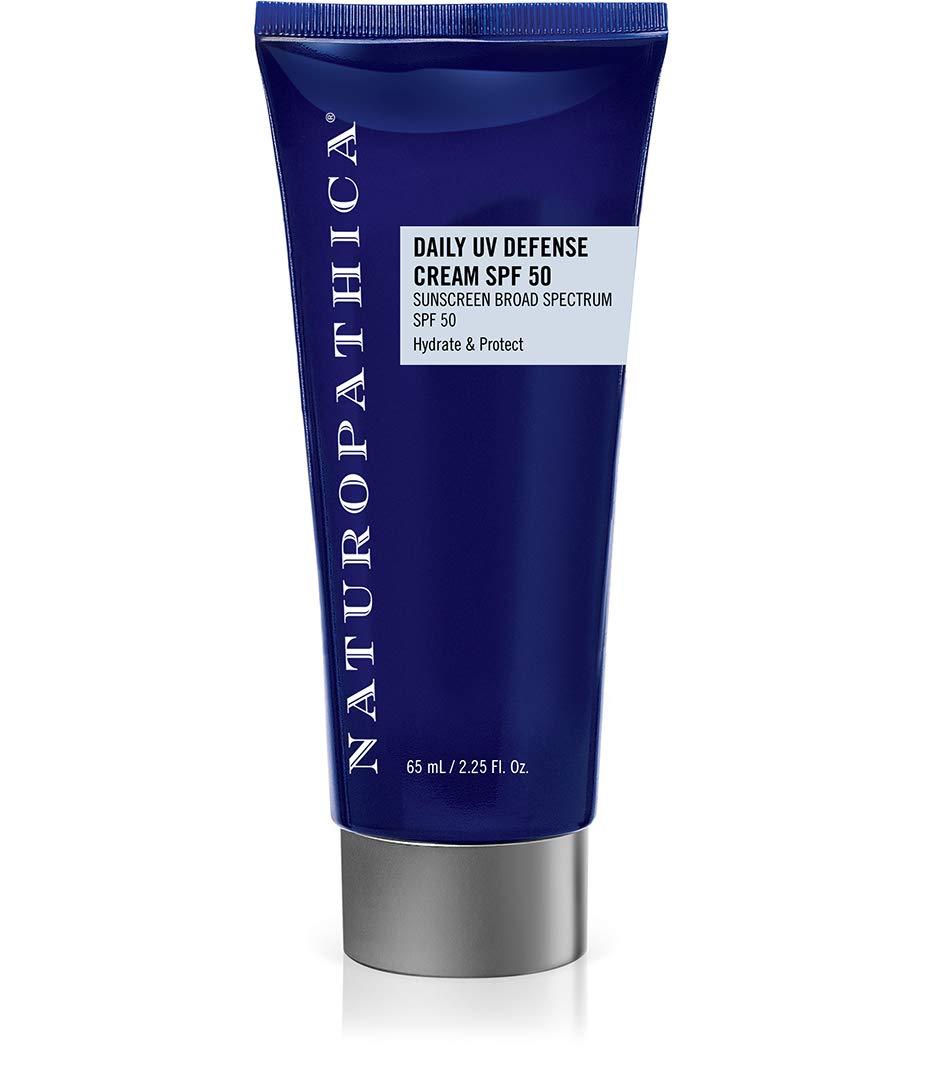 Naturopathica Daily UV Defense Cream SPF 50, 2.25 oz. | Mineral SPF Facial Cream with 19.5% Zinc Oxide | Shields 98% of UV rays