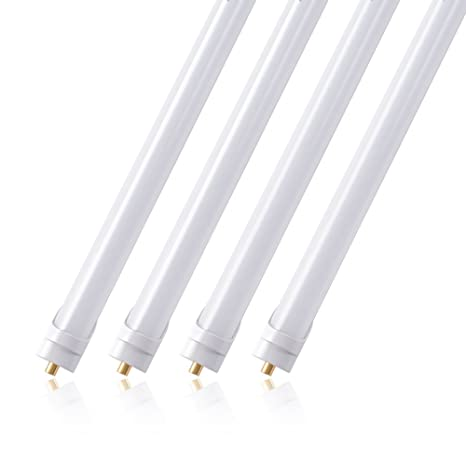 (pack of 4) barrina t8 t10 t12 led light tube, 8ft, 44w