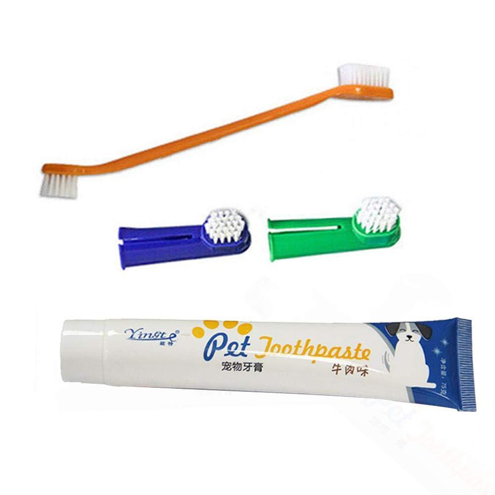 ZLR Produits de Nettoyage bucco-Dentaire Soins dentaires Outil désodorisant Ensemble de Brosse à Dents pour Chien Chien Dentifrice Chien alvéolaire Pus Soin de la parodontite prévention de la Plaque