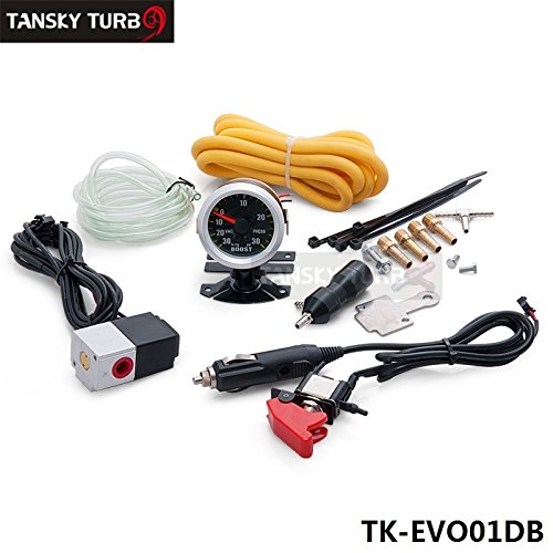 TANSKY - TURBO Manual Boost Controller Dual Stage Upgrade Kit &52mm boost Gauge MBC-R-EVO TK-EVO01DB: