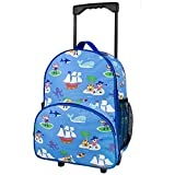 : Olive Kids Pirates Rolling Luggage