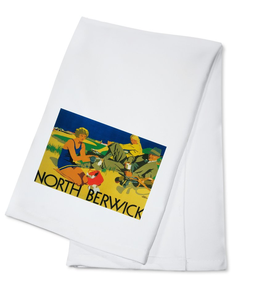 【予約受付中】 North Towel Berwick –、スコットランド – ゴルフCoastプロモーションポスター Coaster 4 Coaster Set LANT-8473-CT B0184B01KA Cotton Towel Cotton Towel, 銀座東洋ジュエリー:84d52087 --- martinemoeykens.com