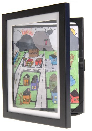 Price comparison product image Child Artwork Frame - Display Cabinet Frames And Stores Your Child's Masterpieces - 8.5 x 11 (Black) by Lil Davinci