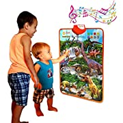 #LightningDeal Just Smarty Electronic Interactive Alphabet Wall Chart, Talking ABC & 123s & Music Poster, Best Educational Toy for Toddler. Kids Fun Learning at Daycare, Preschool, Kindergarten for Boys & Girls
