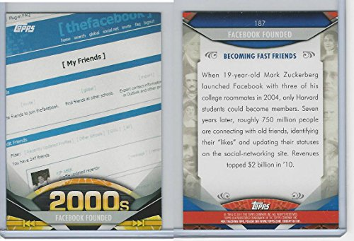 2011-topps-american-pie-187-facebook-founded