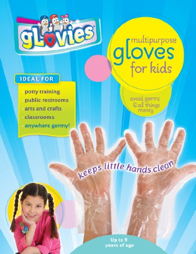 (gLovies Multipurpose Disposable Gloves for Kids (100 Pack)- Durable & Latex Free Hand Protection for Any Skin Type Children Activities)