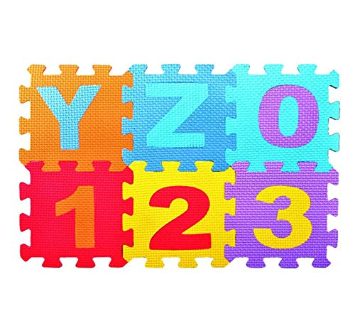 Cinhent Children's Educational Toys Kit, 36Pcs Baby Children Digital Alphabet Mat,DIY Puzzle Bubble Math Education Toy for Kid Early Education Gift]()