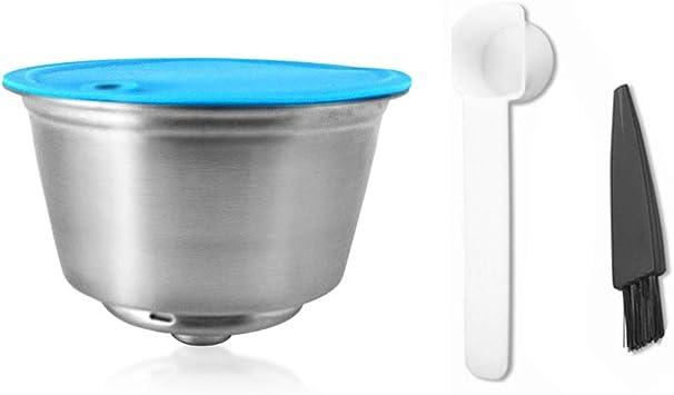Cápsulas de café Blusea reutilizáveis, recarregáveis de aço inoxidável, filtros de cápsulas compatíveis com máquina de café Dolce Gusto EDG466 EDG606 EDG305 Mini Me EDG626, capacidade de 10 ml: Amazon.com.br: Casa