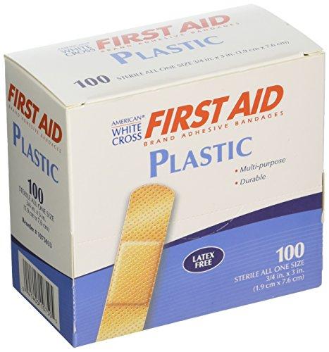 American White Cross 1075033 Plastic Adhesive Strips, Sterile, 3/4