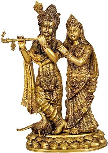 Large Size Radha-Krishna – Brass Statue