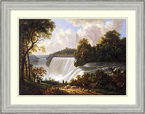 Framed Wall Art Print | Home Wall Decor Art Prints | Niagara Falls Scene by Victor DeGrailly | Casual -