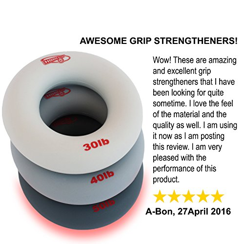 Hand Strengthener Grip Rings 10 100LB MULTIPLE RESISTANCE LEVELS Forearm Grip Strength Quickly Increase Your Hand Strength Finger Exerciser Best Hand Exerciser Grip Strengthener