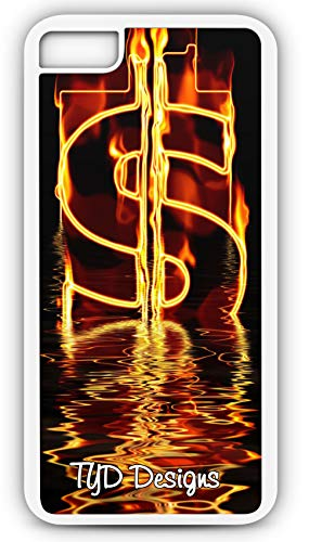 iPhone 8 Case Money Almighty Dollar Currency Water Wave Abstract Customizable TYD Designs in White Plastic