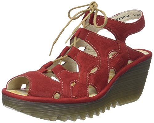 Fly London Yexa916fly, Sandali a Punta Aperta Donna Rosso (Lipstick Red)