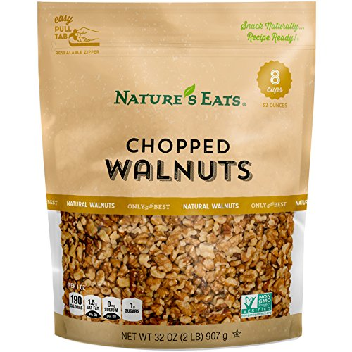 Nuts Chopped (Nature's Eats Chopped Walnuts, 32 Ounce)