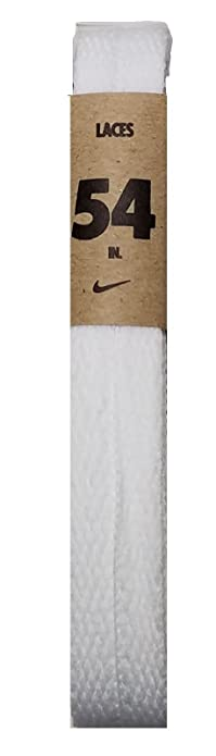 Nike Unisex Replacement Shoelaces Flat String Cords Shoe Laces (White, 45)