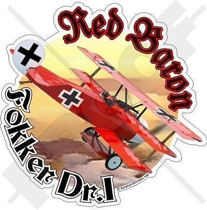 Fokker Triplane Red Baron Richthofen Roter Baron Wwi As Deutsch 117mm Auto Motorrad Aufkleber Vinyl Sticker Garten