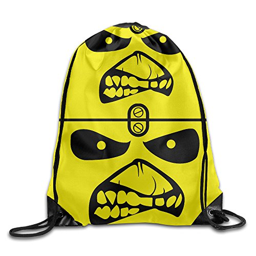 FOODE England Rock Band Angry Face Drawstring Backpack Sack Bag