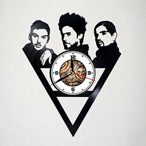 30 Seconds to Mars - Handmade Vinyl Wall Clock - Artwork unique home bedroom living kids room nursery wall decor great gifts idea for birthday, wedding, anniversary - customize your ()