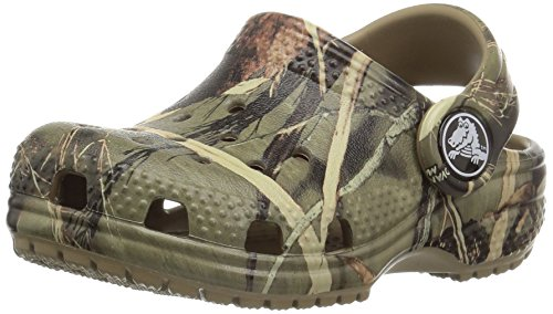 Crocs Kids' Classic Realtree Clog | Slip On Water Shoe for Toddlers, Boys, Girls, Khaki, 3 M US Little Kid