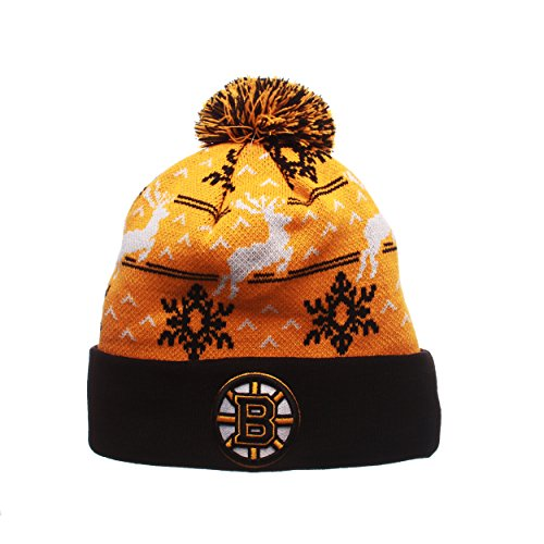 Sweater Hat Knit (Boston Bruins