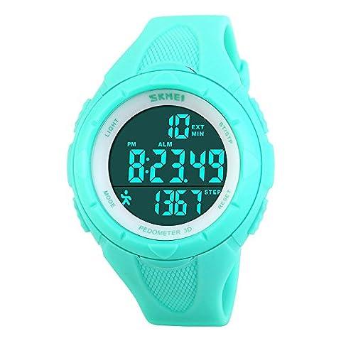 Gosasa Multifunction Women's Watch Fashion Pedometer Digital Fitness For Women Outdoor Wristwatches Sports (Sport Watch Ladies)
