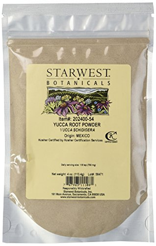 Powder Yucca Root (Yucca Root Powder Wc - 4 Oz,(Starwest Botanicals))