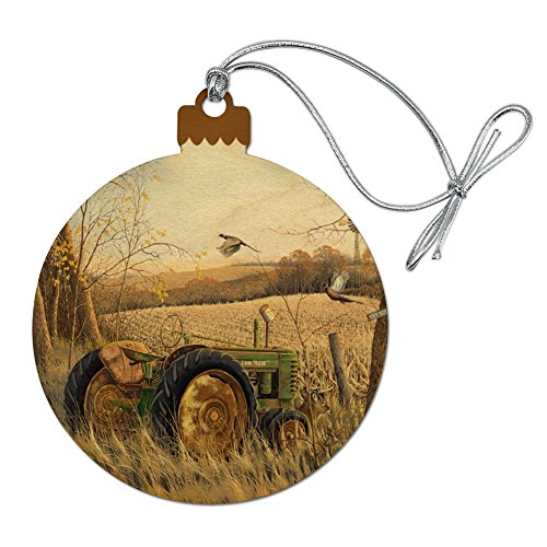 - GRAPHICS & MORE Tractor on The Farm Wood Christmas Tree Holiday Ornament