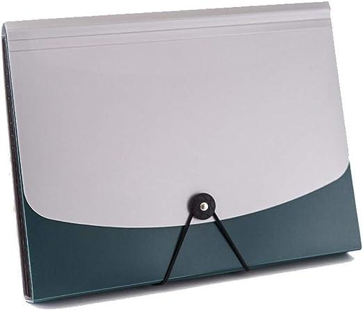 Carpeta Inserción de múltiples capas Capacidad A4 Caja de almacenamiento de archivos multifunción Bolsa de almacenamiento de papel Bolsa de órganos Grande (Color : Green , tamaño : 24*33*3.2cm) : Amazon.es: Hogar