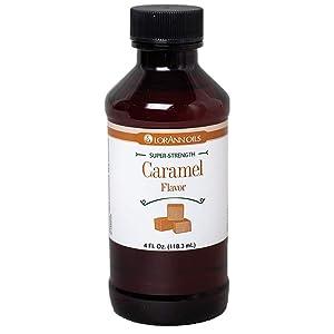 LorAnn Caramel Super Strength Flavor, 4 ounce bottle