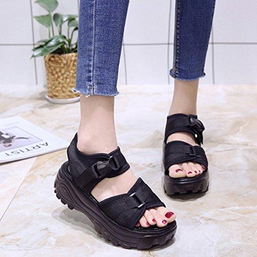 Black Coolcept Sandals Women Open Toe 8PCP7q
