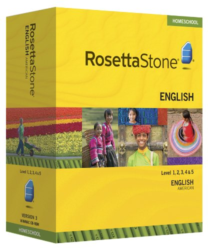 Rosetta Stone Homeschool English (US) Level 1-5 Set including Audio Companion