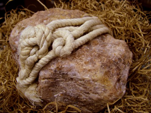 SALT TRADERS Brown Himalayan Animal Salt Lick with Rope: Full of the essential trace minerals and vitamins your horses and cows need to be healthy!