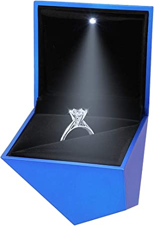 90S Elegante Caja de Anillo de Terciopelo en Forma de Diamante ...