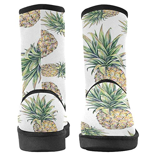 Multi Boots Designed Womens Unique Pineapples Snow Winter InterestPrint Boots 1 Comfort AqwEzx