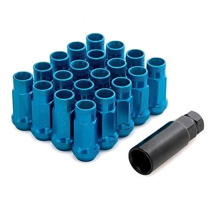 LIDAUTO Tuercas para Ruedas Tornillo antirrobo Aleación de Aluminio M12 × 1.5/1.25 TU-