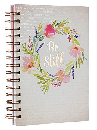 Watercolor Collection Be Still Hardcover Wirebound Journal - Psalm 46:10