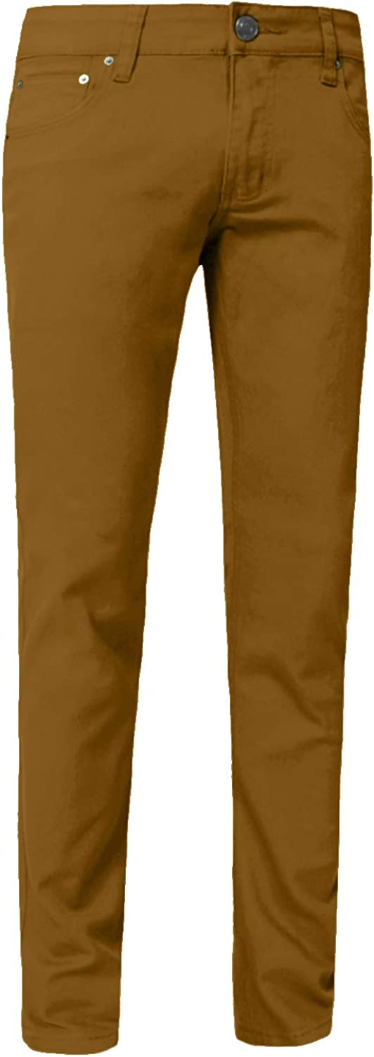 J. LOVNY Mens Lightweight Simple Slim Fit Skinny Jeans Pants 28-40