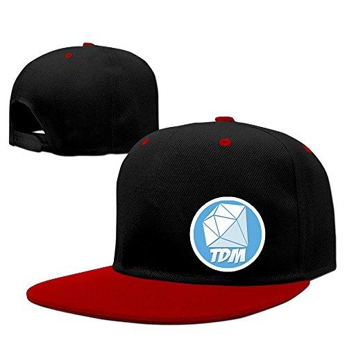 Custom TheDiamondMinecart DanTD Logo Adult Unisex Cotton Baseball Caps Contrast Color Adjustable Cap (Swift Red Set Taylor Box)
