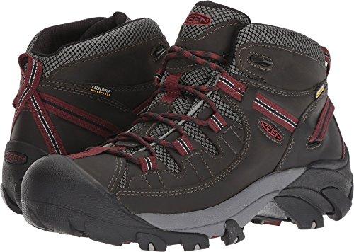 KEEN Men's Targhee II Mid Waterproof Hiking Boot, Alcatraz/Fired Brick, 13 M ()