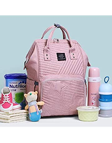 f5d21461 Genuine Land Baby Diaper Backpack Nappy Mummy Changing Bag with USB Port  (Pink)